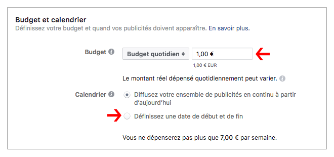 Facebook-annonce-payante-budget-calendrier